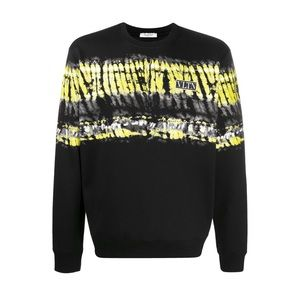 Valentino tie-dye panel logo patch sweatshirt